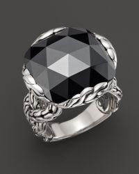 John Hardy | Metallic Batu Classic Chain Silver Large Braided Ring With Hematite | Lyst