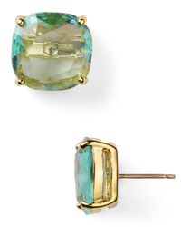 kate spade new york - Blue Small Square Stud Earrings - Lyst