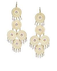 Orelia - Metallic Filigree Cascade Earrings - Lyst