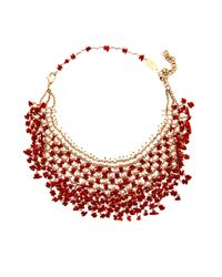 Rosantica | Red Papavero Pearl Coral Necklace | Lyst