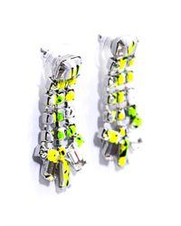 Tom Binns | Green Co Vert Marble Effect Earrings | Lyst