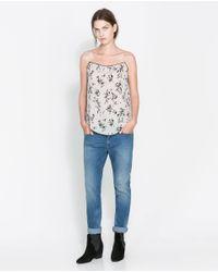 Zara | Blue Loose Fit Jeans | Lyst