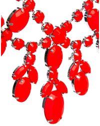 ASOS - Orange Premium Jewelled Bib Necklace - Lyst