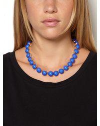 BaubleBar - Blue Cobalt Cabochon Strand - Lyst
