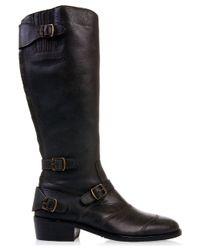 Belstaff - Black Leather Trialmaster Boots - Lyst