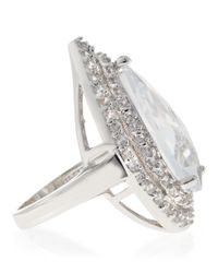 CZ by Kenneth Jay Lane - White Pear Pave Cubic Zirconia Ring - Lyst