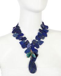 Devon Leigh - Blue Lapishowlite Necklace - Lyst