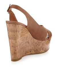 Dolce Vita - Brown Jill Cork Wedge Slingback Natural - Lyst