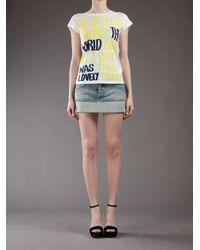 Dondup - Blue Dana Mini Skirt - Lyst