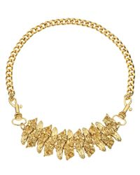 Estelle Dévé | Metallic Gold Plated Nuri Necklace | Lyst