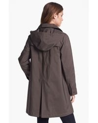 Gallery | Gray Hooded A-line Topper | Lyst