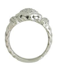 John Hardy | Metallic Pave Diamond Square Ring | Lyst
