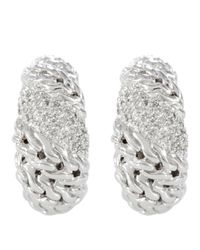 John Hardy | Metallic Swirl Hoop Earrings | Lyst