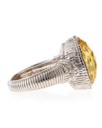 Judith Ripka - Metallic Canary Crystal Oval Ring Size 7 - Lyst