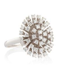 KC Designs - Metallic White Gold Diamond Starburst Ring - Lyst