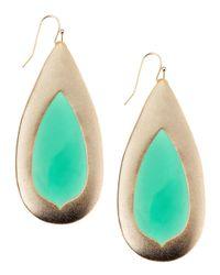 Kendra Scott - Wren Green Onyx Teardrop Earrings - Lyst