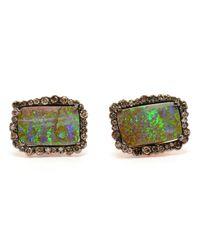 Kimberly Mcdonald - Green Boulder Opal And Diamond Earrings - Lyst