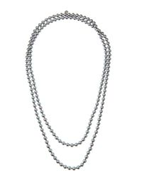 Majorica - Long Gray Pearl Necklace - Lyst