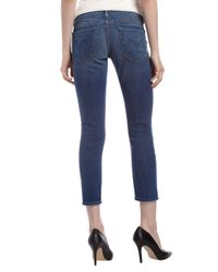Mother - Blue Looker Cropped Skinny Jeans 32 - Lyst