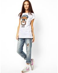 ASOS | White Panuu Harlem Bear Tshirt Exclusive To | Lyst