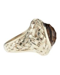 Slane - Brown Basketwoven Smoky Quartz Ring - Lyst