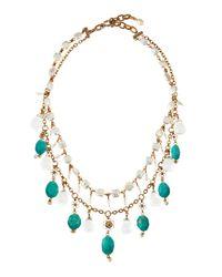 Stephen Dweck | Blue Two-Strand Bib Necklace | Lyst