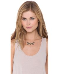 Alexis Bittar | Black Neo Bohemian Dragonfly Necklace | Lyst