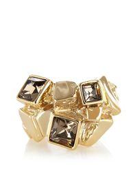 Karen Millen - Metallic Cube Cluster Ring - Lyst