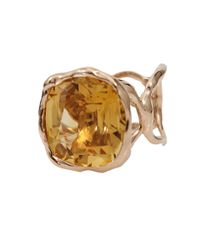 Lucifer Vir Honestus - Metallic Organic Ring with Antique Cut Citrine - Lyst
