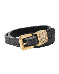 Michael Kors | Metallic Python Embossed Wrap Bracelet  | Lyst