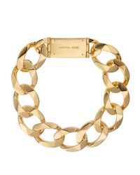 Michael Kors | Metallic Chainlink Collar Necklace Golden | Lyst
