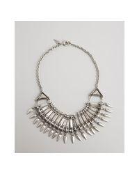 Rebecca Minkoff - Metallic Silver Tribal Bib Necklace - Lyst
