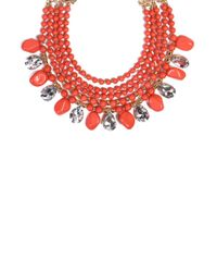 AKIRA - Red Hera Collar Set in Coral - Lyst