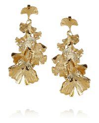Aurelie Bidermann - Metallic Tangerine Gold-plated Earrings - Lyst