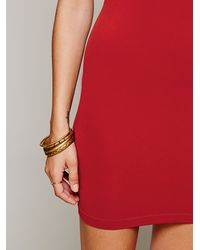 Free People | Red Seamless Mini | Lyst