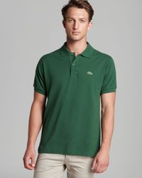 Lacoste - Green Short Sleeve Piqué Polo Shirt - Classic Fit for Men - Lyst