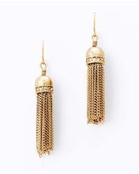 Ann Taylor - Metallic Townhouse Tassel Earrings - Lyst