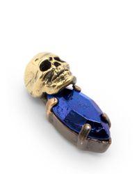 Iosselliani - Blue Skull Bronzed-stone Earrings - Lyst