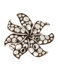 John Hardy - Metallic Dotted Flower Ring Size 7 - Lyst