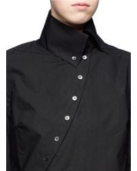McQ | Black Asymmetrical Cotton Shirt | Lyst