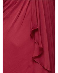 Notte by Marchesa Red Grecian Chiffon Evening Gown