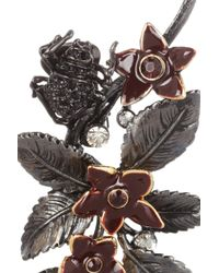 Roberto Cavalli | Gray Wild Flower Swarovski Crystal Ear Cuffs | Lyst