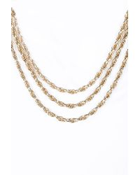Urban Outfitters | Metallic Triple Layer Twisted Chain Necklace | Lyst
