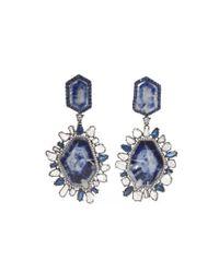 Kimberly Mcdonald | Blue Blackened White Gold Diamond and Sapphire Earrings | Lyst