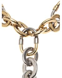 Lanvin - Metallic Chain Link Choker Necklace - Lyst