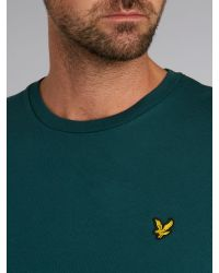 Lyle & Scott | Green Crew Neck T Shirt for Men | Lyst