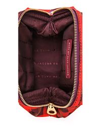 Marc By Marc Jacobs - Red Preppy Nylon Aimee Plaid Framed Big Blitz Pouch - Lyst