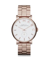 Marc By Marc Jacobs | Pink Baker Rose Goldtone Stainless Steel Bracelet Watch | Lyst