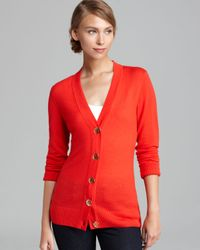 Tory Burch - Orange Simone Cardigan - Lyst