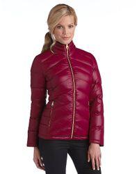 Calvin Klein - Red Zip Front Packable Jacket - Lyst